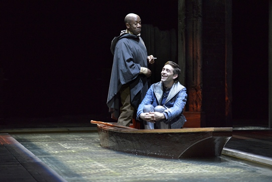 Lucian Msamati as Iago, James Corrigan as Roderigo