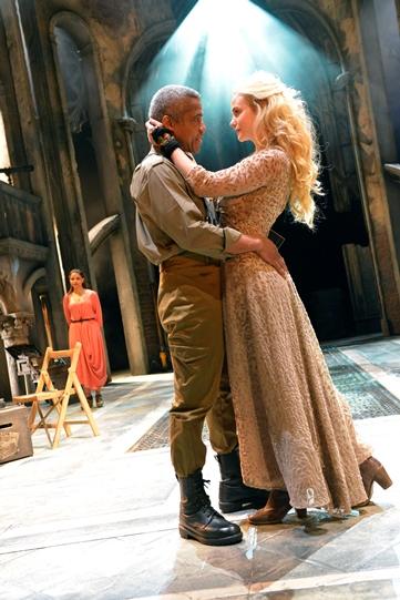 Hugh Quarshie as Othello, Joanna Vanderham as Desdemona