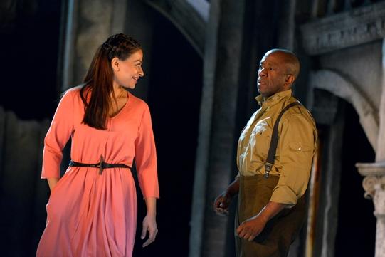 Ayesha Dharkar as Emilia, Lucian Msamati as Iago