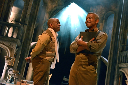 Lucian Msamati and Hugh Quarshie
